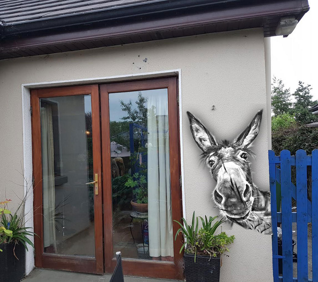 Wall art Donkey