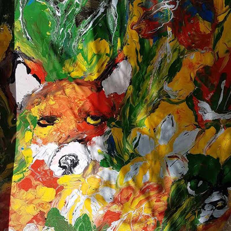 Carmel Doherty Outdoor Painting Fox