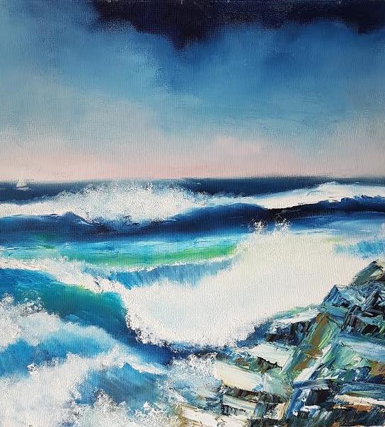 Adult art classes Seascapes