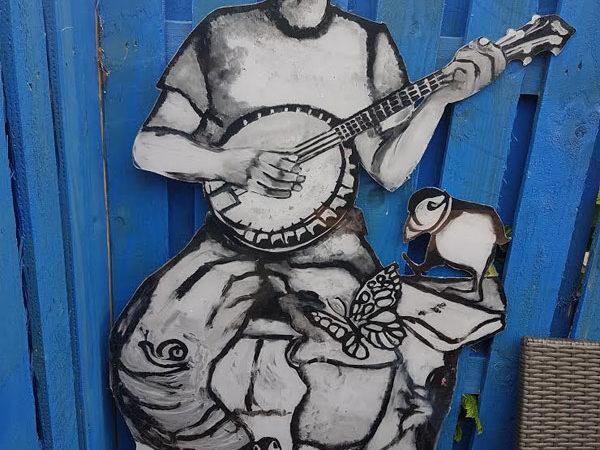 Wall art Banjo Player