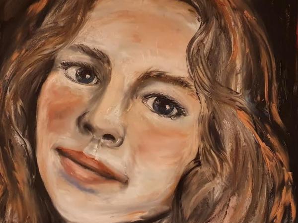 Aoideen - Portrait Painting by Ennis Art School