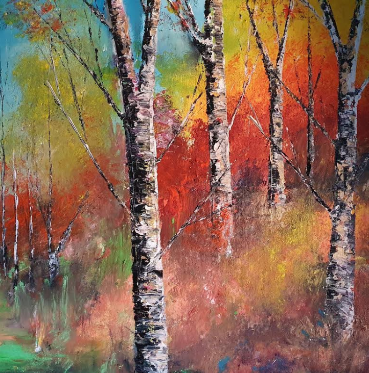 Ballybeg Woods - Landscape Paining by Ennis Art School