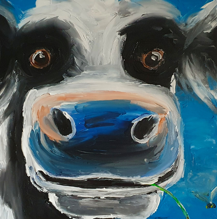 The Blue Cow - Painting by Ennis Art School