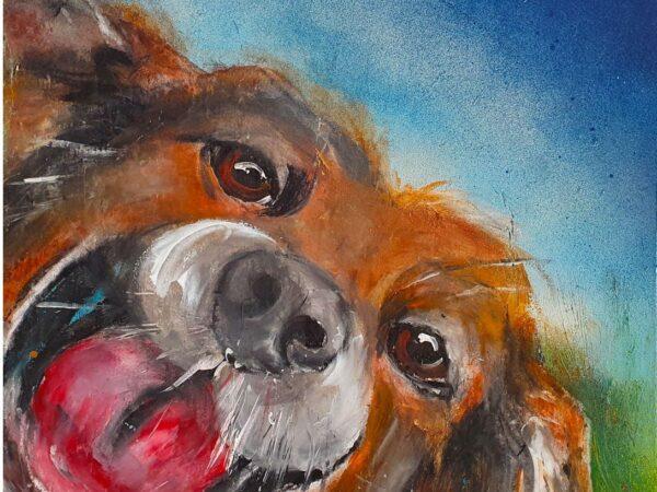 Laughing dog - Ennis Art School