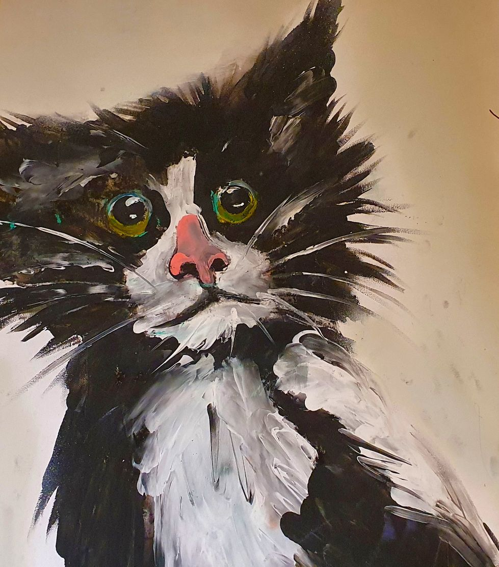 Small Black Cat - Ennis Art School