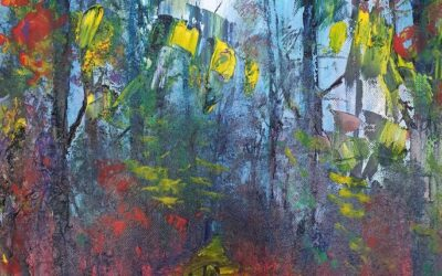 Video on how to paint a forest scene using Oil, Acrylic or Poster Paints with this Free Online Video