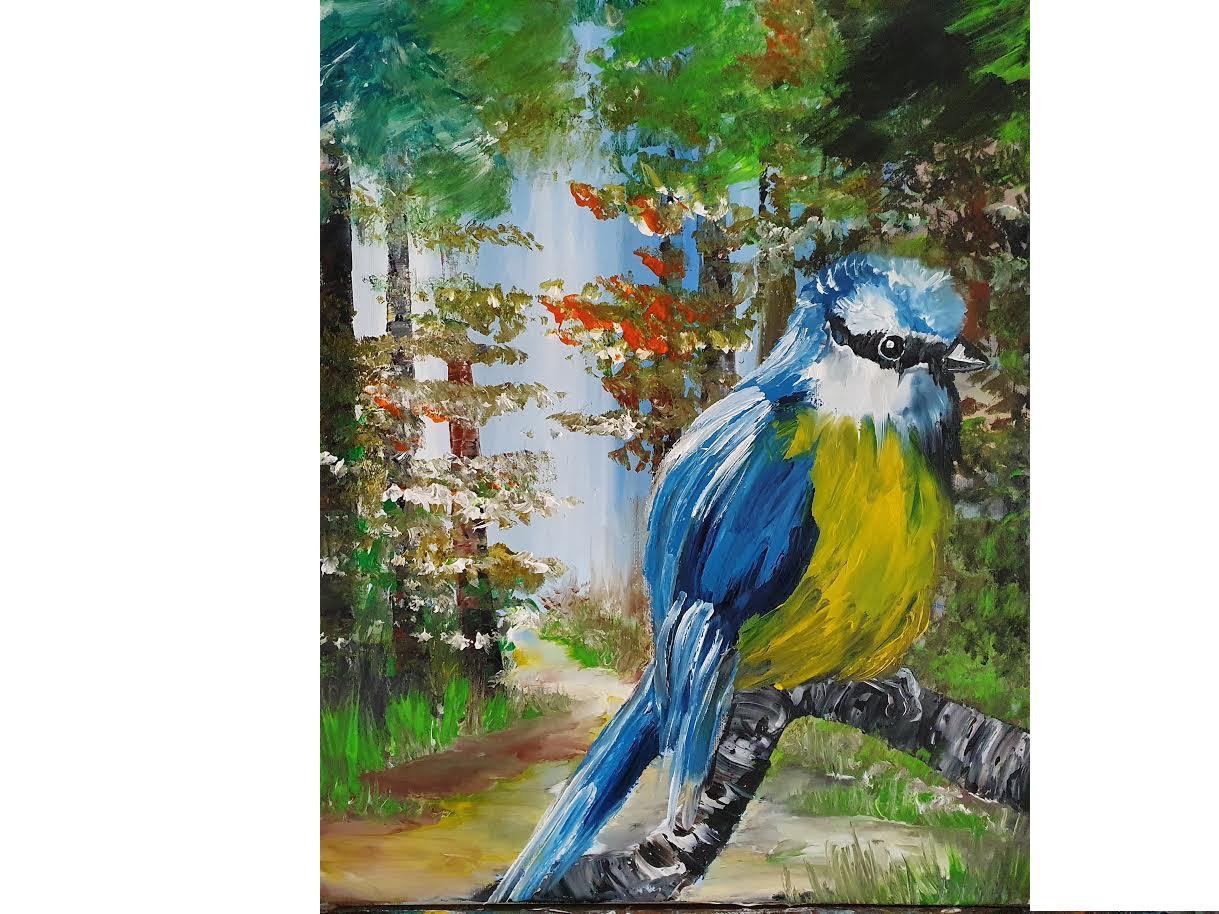 Aleyna's Bluebird - Online Art Courses by Ennis Art School - Level 2