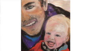 Portrait of a Baby with Father